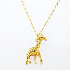 J. Crew Gold Tone Giraffe Necklace